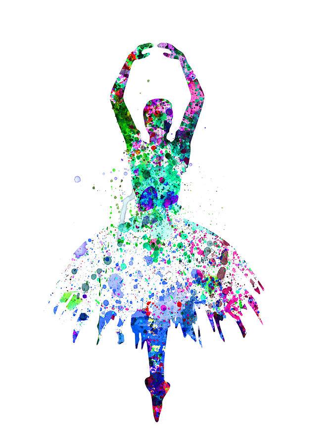Ballerina Dancing Watercolor 4 Painting By Naxart Studio