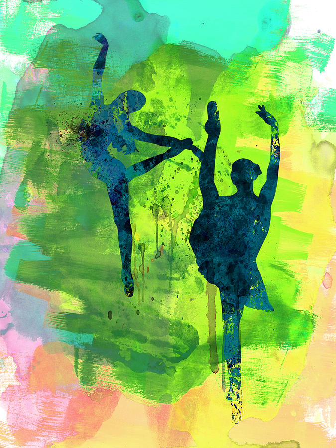Ballet Painting -  Ballet Watercolor 1 by Naxart Studio