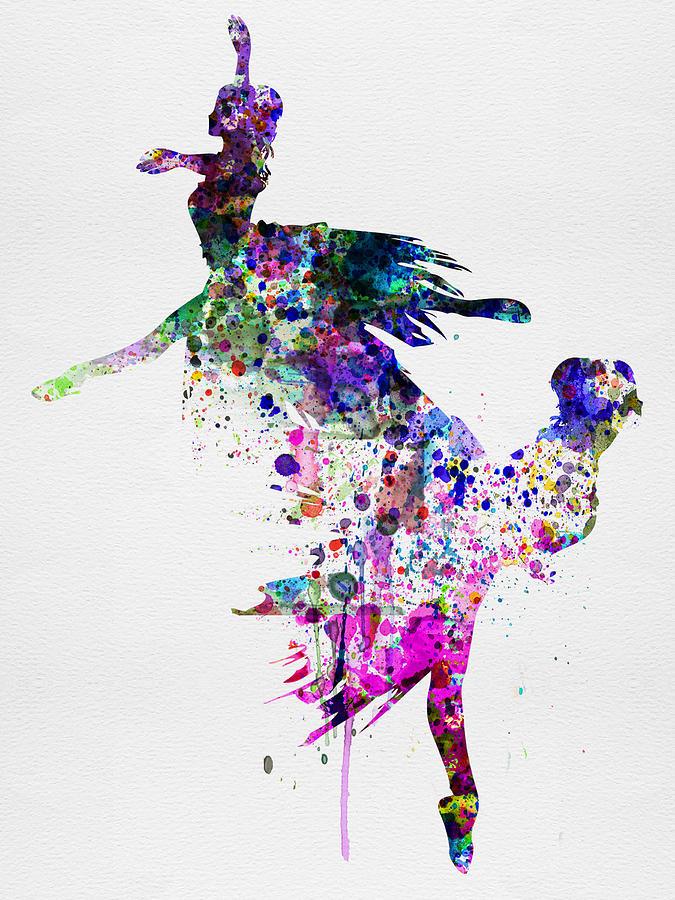 Ballet Painting -  Ballet Watercolor 3 by Naxart Studio