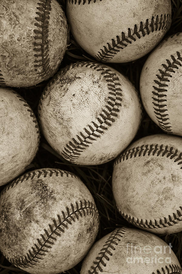 Baseball Photograph -  Baseballs by Diane Diederich