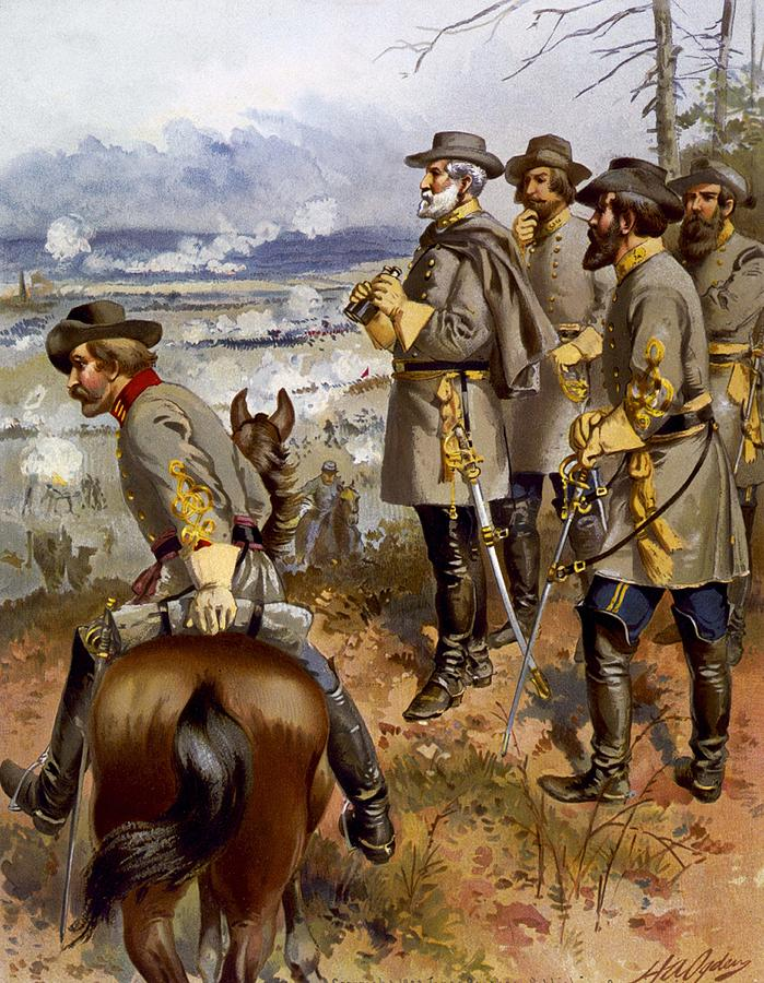 Military Painting -  Battle Of Fredericksburg by American School