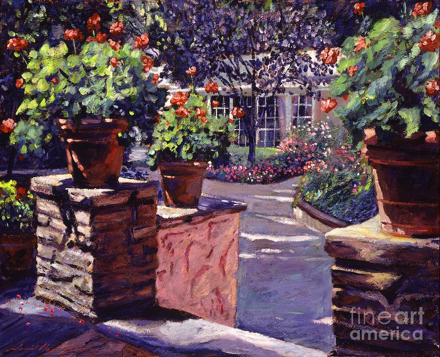 Gardens Painting -  Bel-air Gardens by David Lloyd Glover
