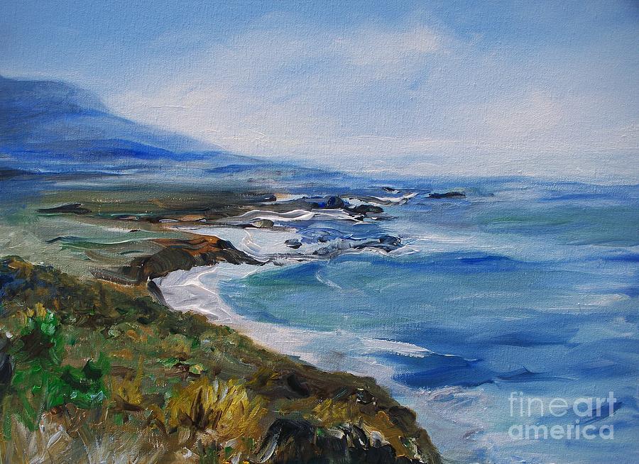 California Coast Painting -  Big Sur Coastline by Eric  Schiabor