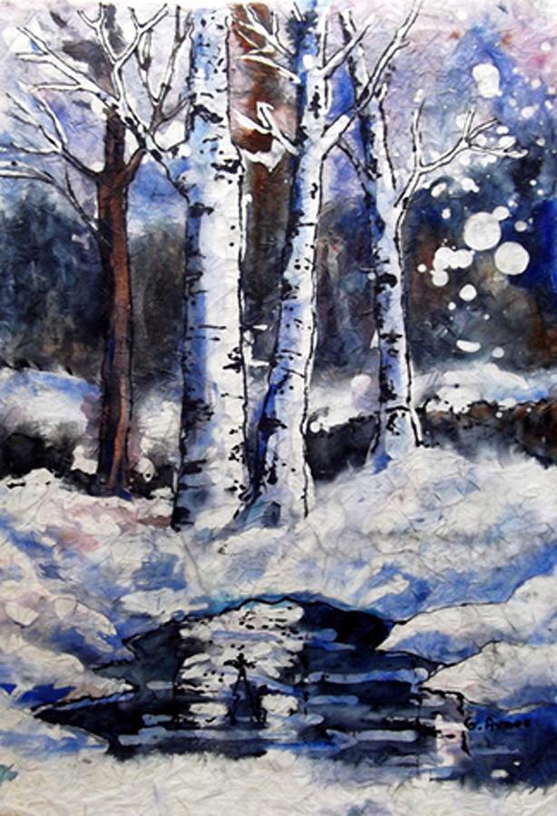 Birch Dreams II by Gloria Avner