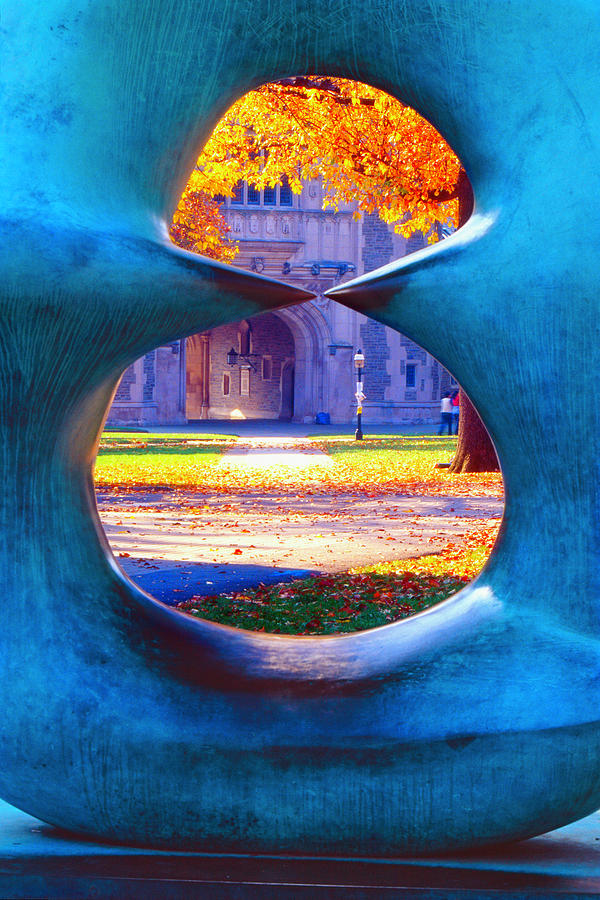 Scenic Photograph -  Blair Hall Gate  by George Oze