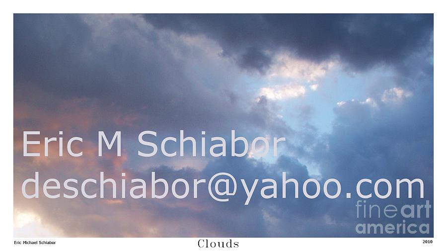 Clouds Photograph -  Blue And Purple Parting Clouds Print by Eric  Schiabor