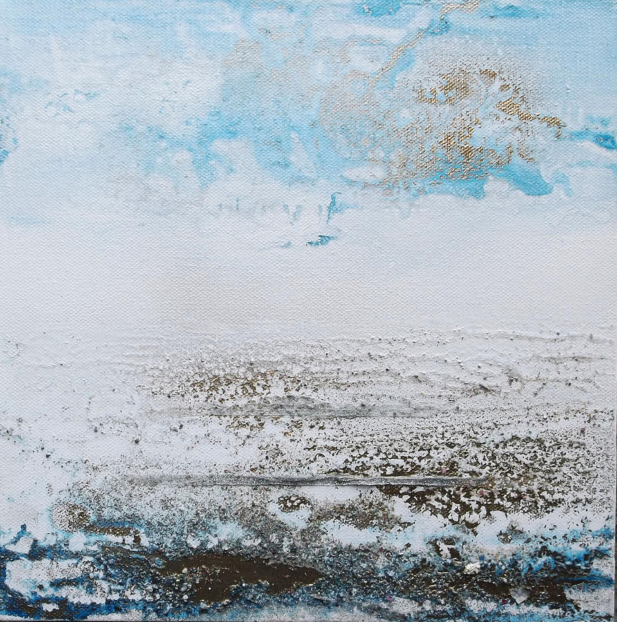 Blue Mixed Media -  Blue Shore Rhythms And Textures 1 by Mike   Bell