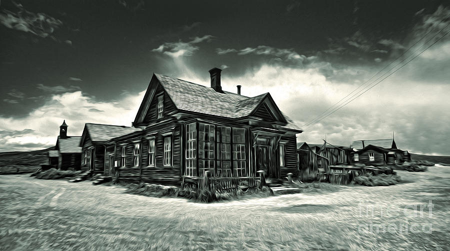 Bodie Ghost Town Painting -  Bodie Ghost Town Panorama 02 by Gregory Dyer