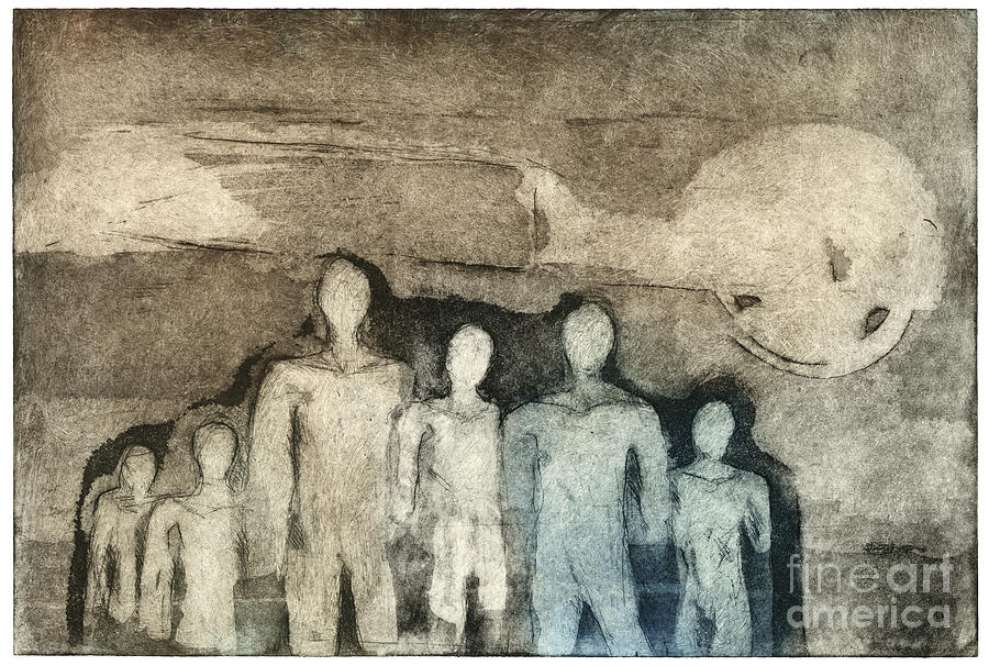Breed Of People - Kind Of People - Etching - Group - Etching - Fine Art Print - Stock Image Painting