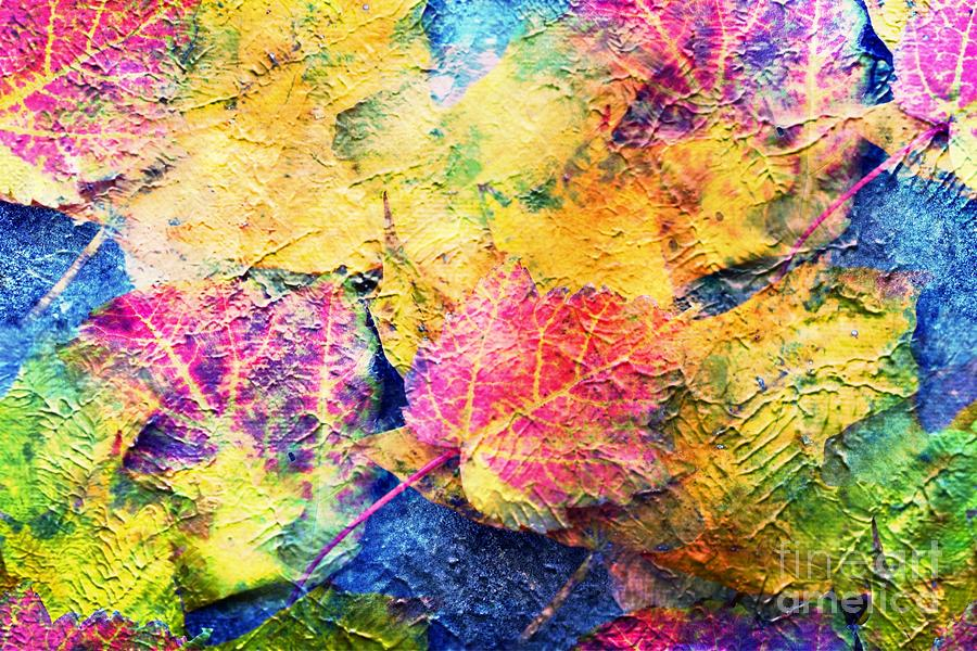 Bright Colorful Fall Leave Abstract Photograph By Judy Palkimas