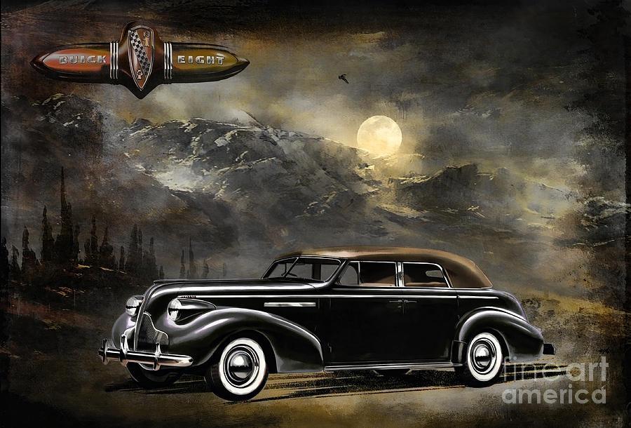 General Motors Painting -  Buick 1939 by Andrzej Szczerski