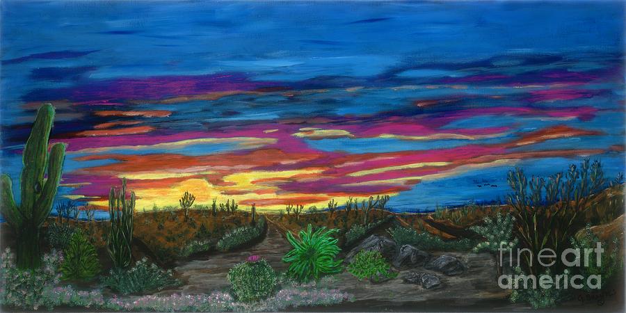 California Desert Sunset by Gary Brandes