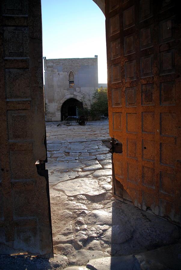 Caravanserais Photograph -  Caravanserais Central Gate - Anatolia by Jacqueline M Lewis