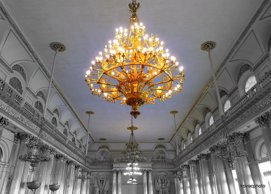 Russia Photograph -  Chandelier  by David Kovac
