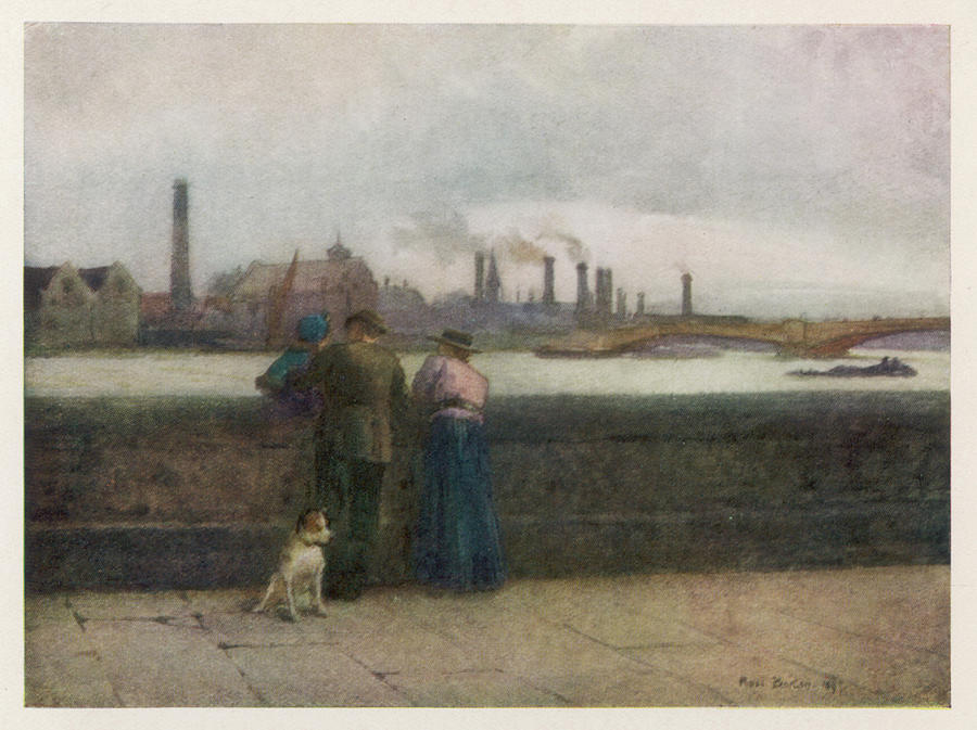 Chelsea Drawing -  Chelsea Embankment On A Grey Day by Mary Evans Picture Library