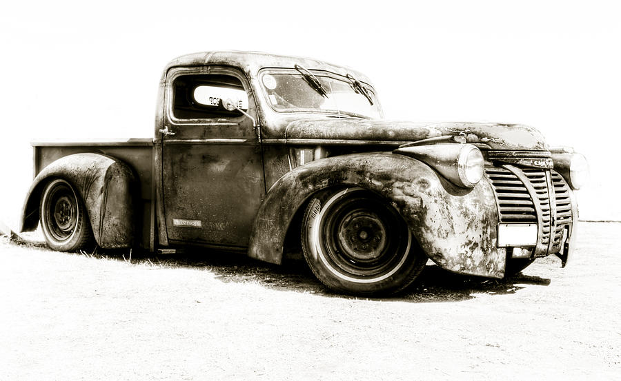 Old Auto Photograph -  Chevy Pickup Patina  by motography aka Phil Clark