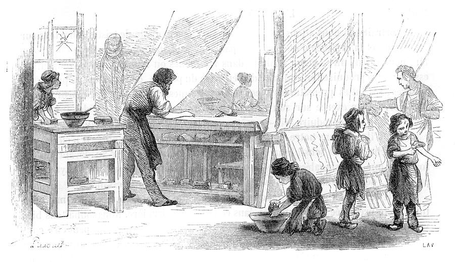 Children Doing Menial Jobs Drawing By Mary Evans Picture Library