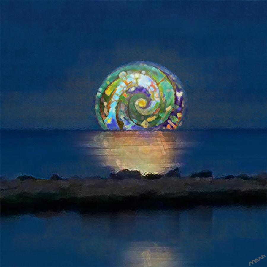 Moonlight Digital Art -  Clair de Lune  by Marco Akamawa