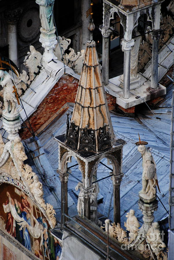 Basilica San Marco Photograph -  Close-up Of Basilica  by Jacqueline M Lewis