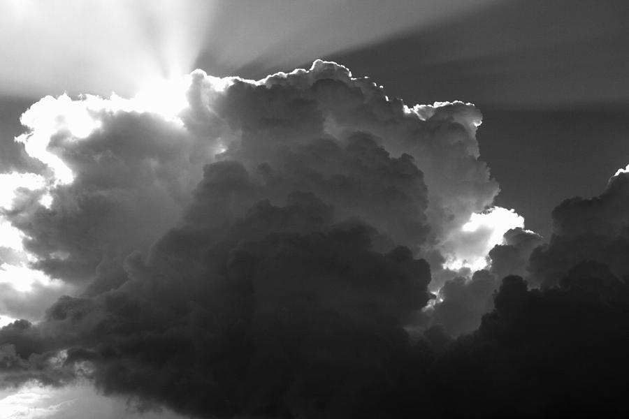 Cloud Photograph -  Clouds 1 Bw by Maxwell Amaro