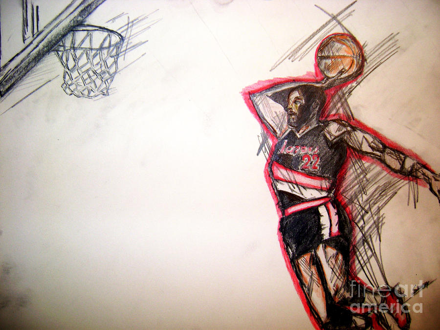 Sports Drawing -  Clyde The Glide by Sidney Holmes