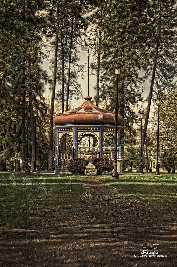 Spokane Wa Photograph -  Coeur Dalene Park Gazebo by Dan Quam