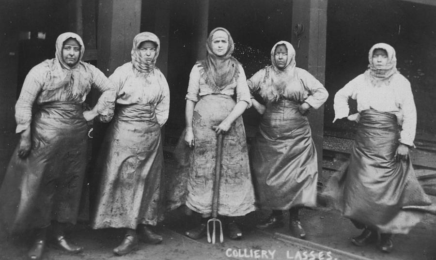 Women Photograph -   colliery Lasses Of Wigan by Mary Evans Picture Library