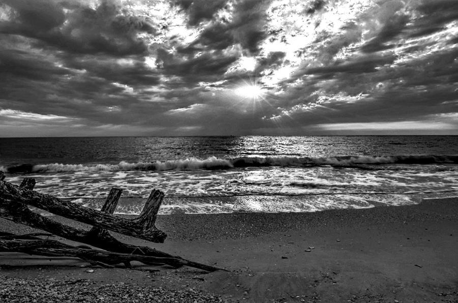 Black White Photograph -  Colorless Sunset by Bob Jackson