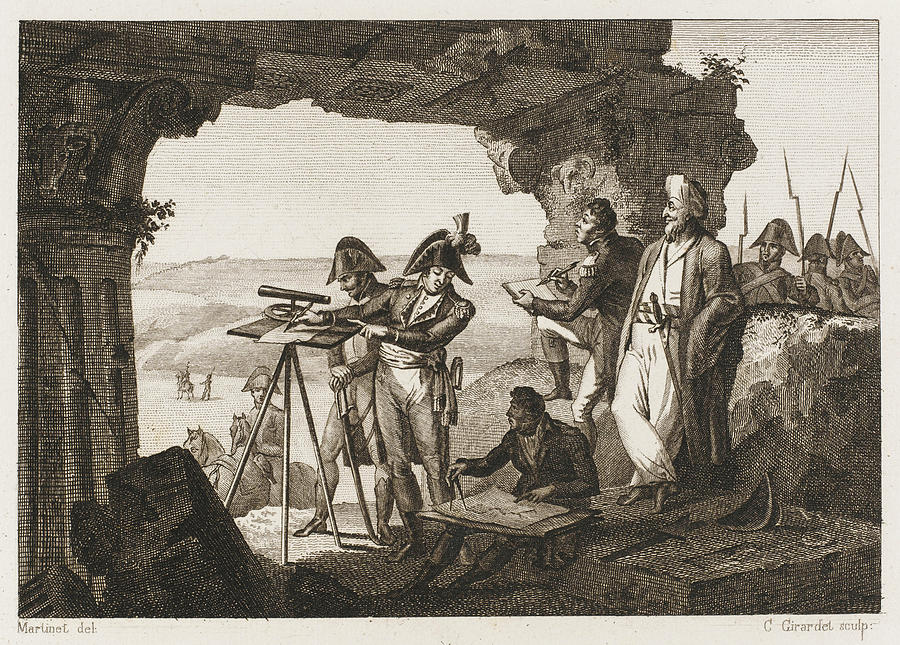 Surveys Drawing -  Comte Andreossi Surveys  Antique Sites by Mary Evans Picture Library
