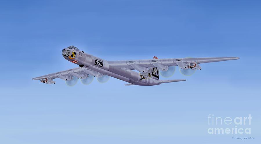 Convair Aircraft Digital Art -  Convair B-36  by Walter Colvin