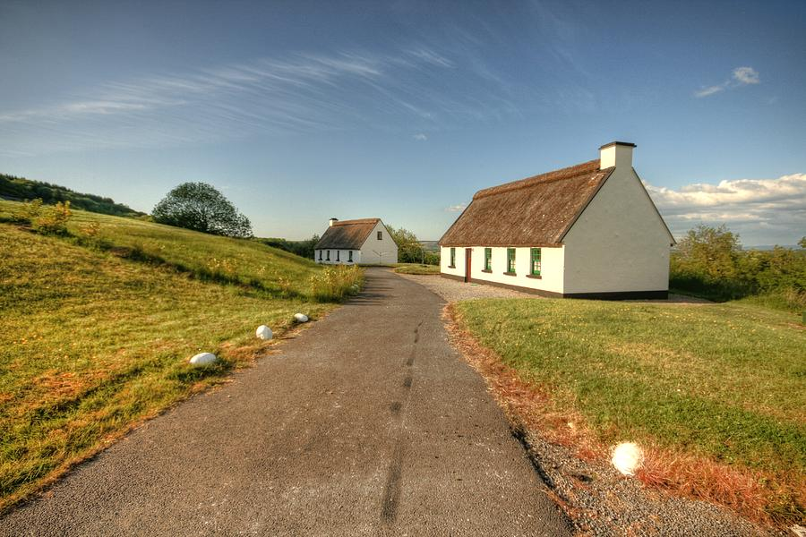 Clare Photograph -  Corofin Thatched Cottages by John Quinn