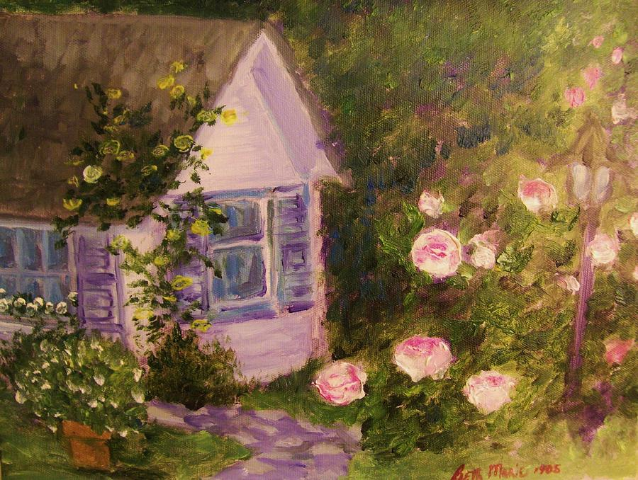 Cottage  In  The  Garden by Beth Arroyo