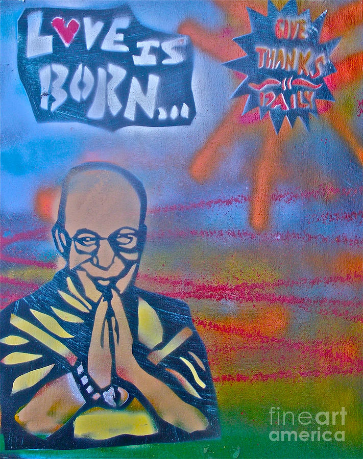 Graffiti Painting -  Dalai Lama 1 by Tony B Conscious