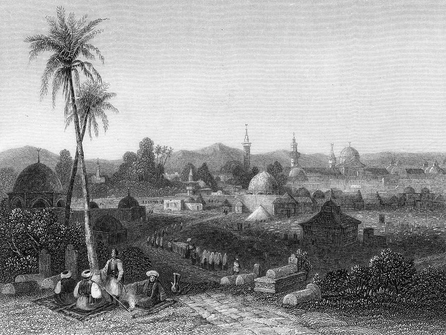 Syria Drawing -  Damascus  General View        Date 1835 by Mary Evans Picture Library