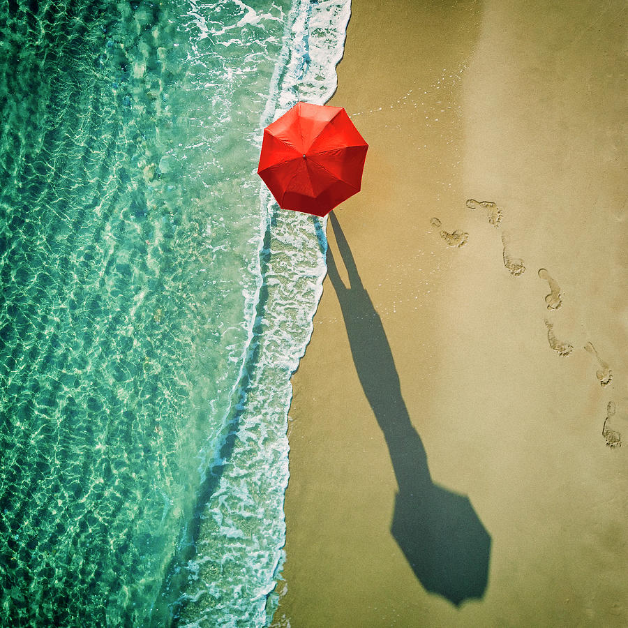 Red Photograph - . Deep Water . by