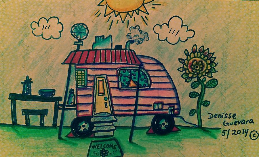 Camping Drawing - . by Denisse Del Mar Guevara