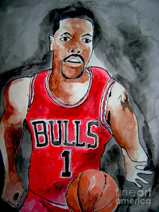 Sports Painting -  Derrick Rose by Sidney Holmes