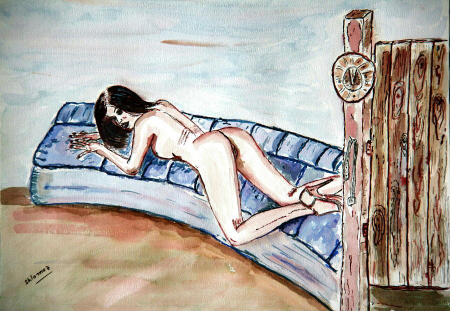 Woman Greeting Cards Painting -  Dezeere   Passion. by Shlomo Zangilevitch