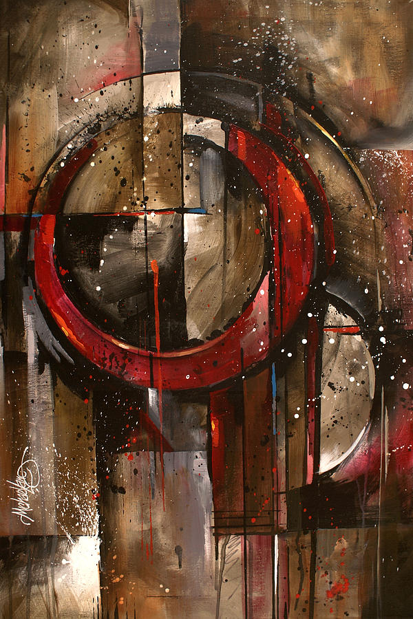 Abstract Painting -  Dream Lock by Michael Lang