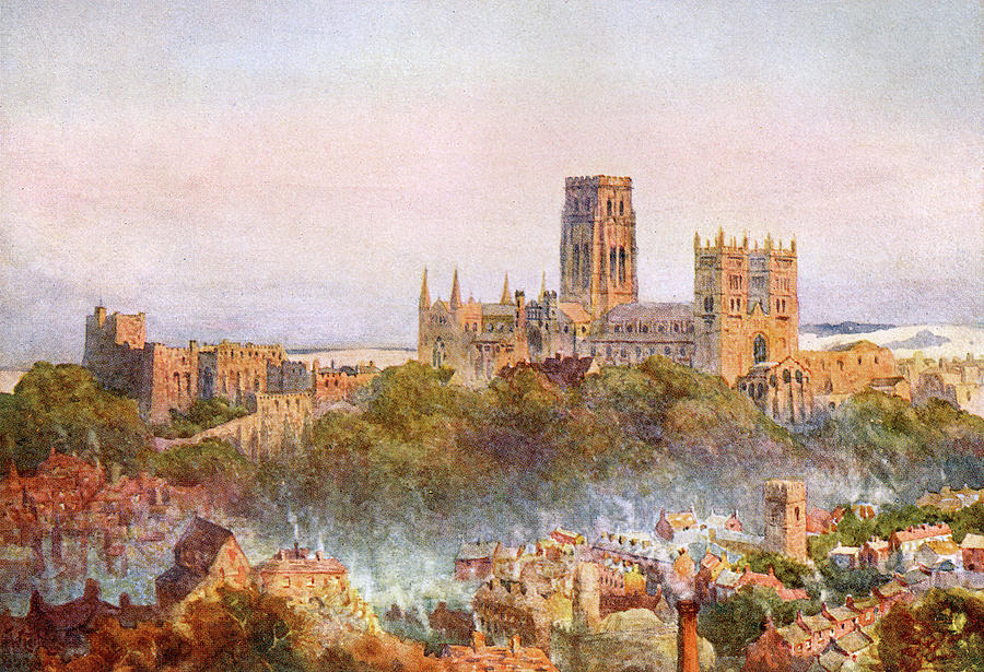 Durham A Distant View Date 1905 Drawing By Mary Evans Picture Library