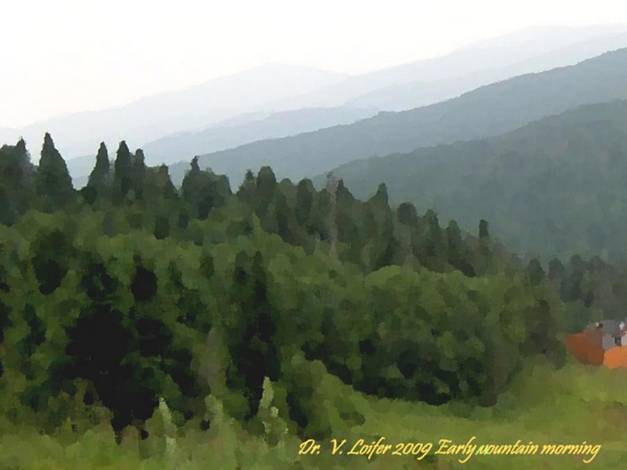 Mountains Digital Art -  Early Mountain Morning by Dr Loifer Vladimir