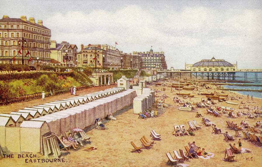 Eastbourne Drawing -  Eastbourne, Sussex A View by Mary Evans Picture Library