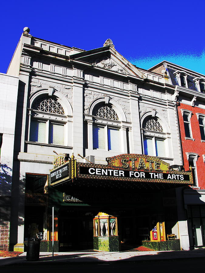 Easton Pa Photograph -  Easton Pa State Theater Center For The Arts by Jacqueline M Lewis