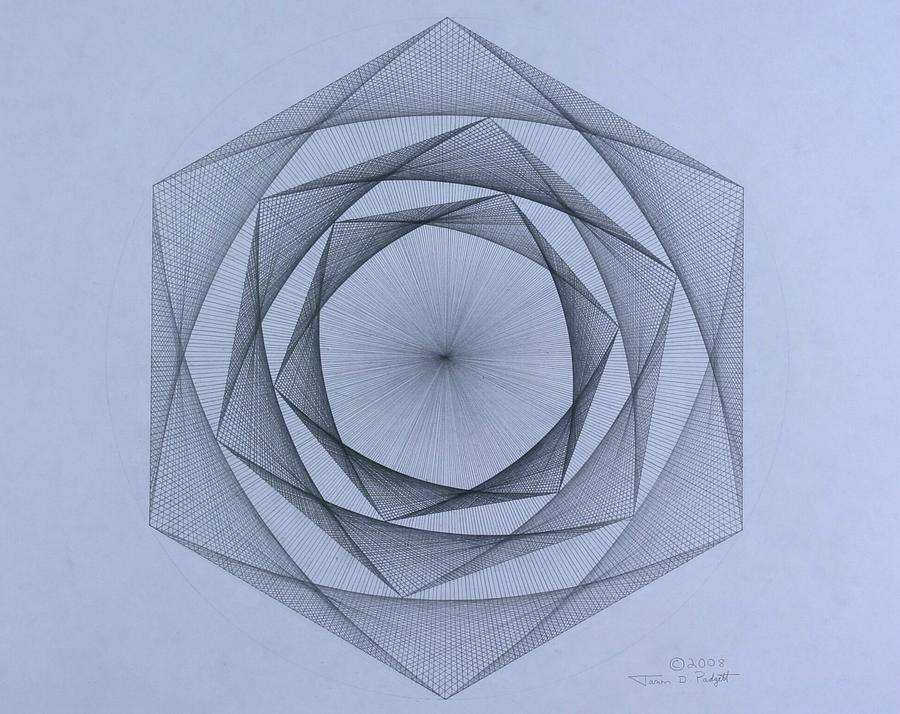 Energy Spiral Drawing by Jason Padgett
