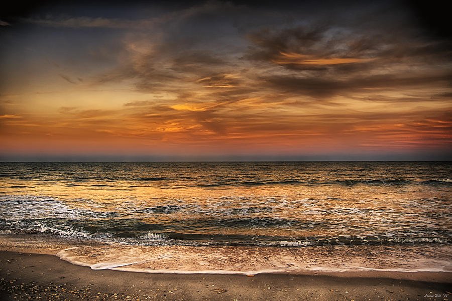 Sunset Photograph -  Evening At The Beach by Louise Hill