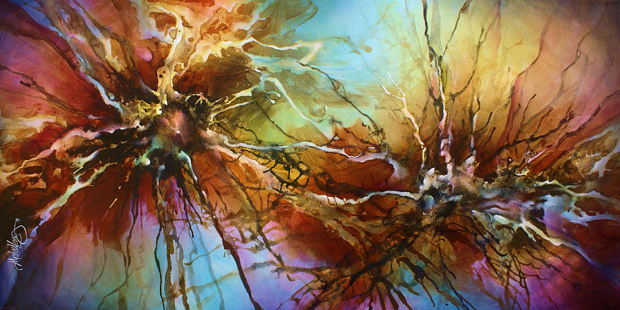 Abstract Painting -  Evolution  by Michael Lang