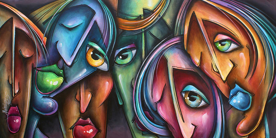 Urban Painting -  Face Us 2 by Michael Lang