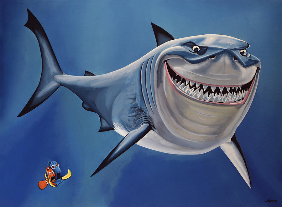 Finding Nemo Painting - Finding Nemo Painting by Paul Meijering