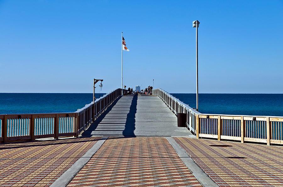 Wooden Photograph -  Fishing Pier by Susan Leggett