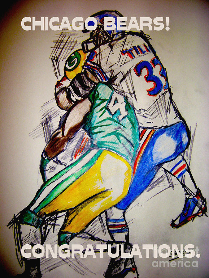 Sports Drawing -  Footballs Greatest by Sidney Holmes